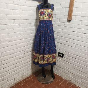 Vintage 80's Floral Summer Tea Party Dress